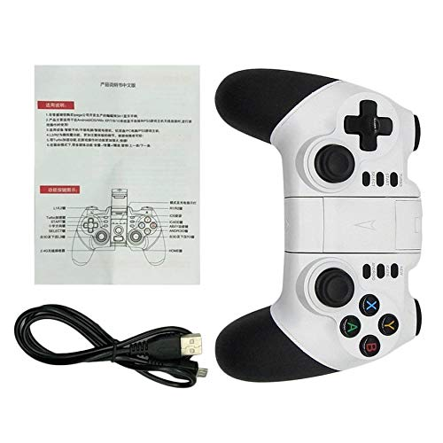 Yao Wireless Bluetooth Game Pad Game Controller Joystick for Android Phones White