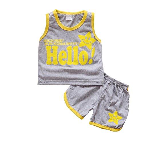 allo Brief gedruckt Weste Top und Shorts Cool Cute Kleidung für 0-3 Jahre alt Boy Girl (Cute Baby Boy Halloween Kostüme)