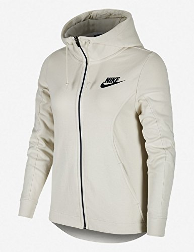 Nike Damen Advance 15 Full-Zip Kapuzenpullover Charcoal Heather/White
