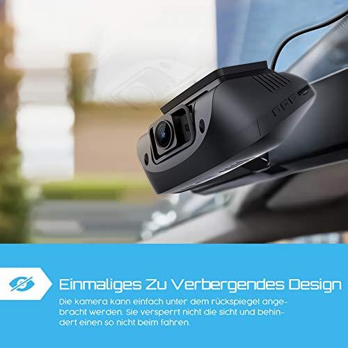 Crosstour Dashcam 1080P Full HD Vorne und Hinten Dual Lens, Externe GPS Auto Kamera, 170 ° Weitwinkelobjektiv HDR Nachtsicht, Bewegungserkennung G-Sensor Loop-Aufnahme - 5