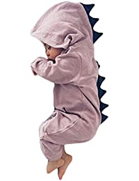 dcff4ad46 EGELEXY Kids Baby Girls Cartoon Dinosaur Long Sleeve Romper One-Piece  Jumpsuit Outfits
