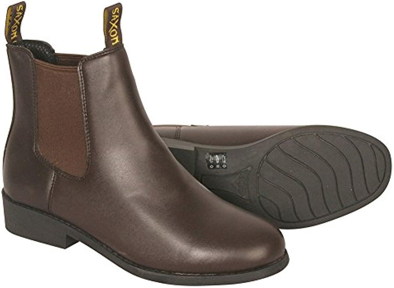 Saxon Equileather botas de Jodhpur (tamaños C9 – Reino Unido 4)