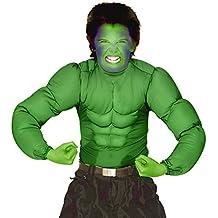 Hulk Superhéroe Disfraz de superhéroe de cómic disfraces Verde Muscle Disfraz Monster–Juego de seis camisa del músculo disfraz de Halloween Carnaval Disfraz de superhéroe para niños