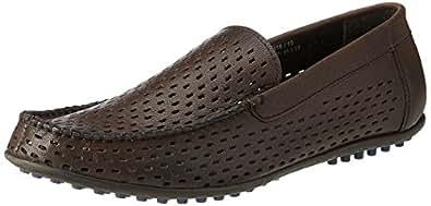 BATA Men's Sandler Brown Leather Formal Shoe - 8 UK/India (42 EU) (8554116)