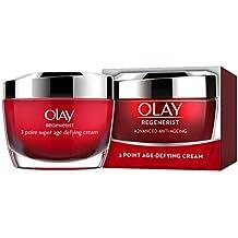 Olay Regenerist 3 Point Firming Anti-Ageing Cream Moisturiser with Hyaluronic Acid, 50 ml