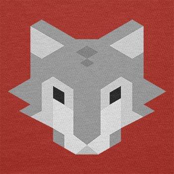 Texlab–Simple Wolf–sacchetto di stoffa Rot