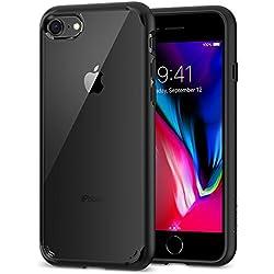 Spigen Funda iPhone 8, Funda iPhone 7/8, [Ultra Hybrid 2ª Generación] Tecnología de Amortiguación de Aire y Protección Híbrida contra Caídas para iPhone 7 (2016)/iPhone 8 (2017) [Negro]
