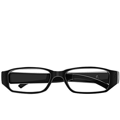 Umanor Mini Kleine Kamera Brille, DVR Verteckte Kamera und Spionagekamera, Video und Foto aufnehmen, Loop-recording, 8GB SD Karte mitgelierfert