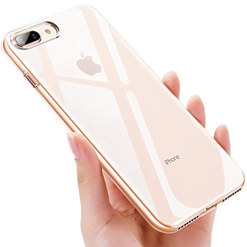 iPhone 8 Plus Handyhülle, iPhone 7 Plus Schutzhülle, UBEGOOD Anti-Shock Kratzfeste iPhone 8 Plus Silikon Hülle Premium TPU Cover Bumper Case iPhone 7 Plus Hülle für iPhone 8 Plus/iPhone 7 Plus Case Cover-Transparent