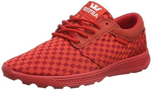 Supra Unisex-Erwachsene Hammer Run Low-Top Rot (RED - RED RED)