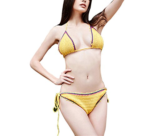 Backless Bather Swimsuit High Waisted Pin up Swimwear Shoulder Bikini