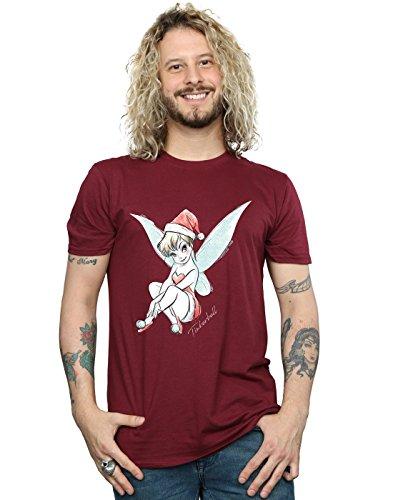 Disney Herren Tinkerbell Christmas Fairy T-Shirt XX-Large Burgund -