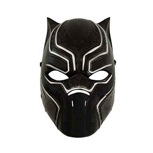 (Delicacydex Für Rubies Kostüm Herren Captain America Bürgerkrieg Black Panther Overhead Latexmaske - Schwarz)