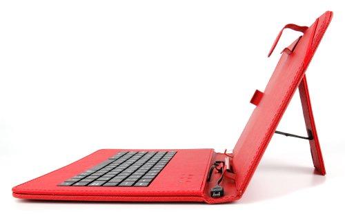 duragadget custodia ttastiera  DURAGADGET Custodia/Tastiera Rossa Per Tablet Di 10.1