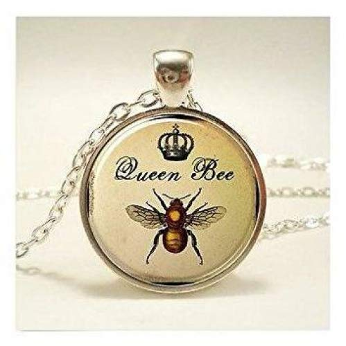 Queen Bee Halskette, Royal Crown Insekten Art Anhänger, Biene Schmuck