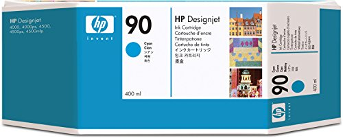 Preisvergleich Produktbild HP 90 3er-Pack Cyan Tintenpatrone, 400 ml
