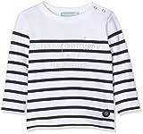 Armor Lux Unisex Baby T-Shirt ma 1ère Marinière\, Weiß Blanc/Navire 400, 3-6 (Herstellergröße: 6 Monate)