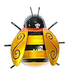 Ideal Gift Bumble Bee Glossy Garden Wall Art (Triple Pack) For Garden, Patio and Home from Direct Global Trading