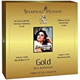Shahnaz Husain 24 Carat Gold Skin Radiance Kit Timeless Youth (24 Carat Gold Plus Anti Ageing Exfoliating Scrub, Moisturising Cream, Skin RAdiance Gel, Beautifying Mask)