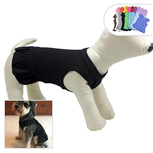 longlongpet Pet Kleidung Klein Hund Kleidung Blanko Sport Kleid T-Shirts Tee Kleider Tanks Top für Kleine Größe Weiblich Hunde Sommer Spring Pet Kostüme 100% ()