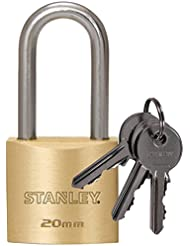 Stanley 20 mm 3-Keys Solid Brass Padlock