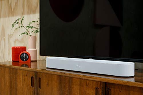 41BEoWKoboL [Bon Plan Amazon] Sonos Beam - La Barre de Son TV compacte et intelligente avec le service vocal Amazon Alexa intégré. Home Cinéma multiroom sans Fil et musique en Streaming dans toutes les pièces - Blanc