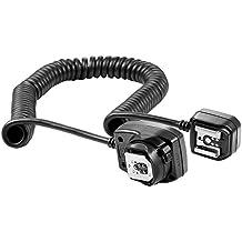 Neewer® Kit de soporte rotatorio Quick Flip para flash y cable para flash Speedlite externo E-TTL, ETTL II para Canon EOS 5D Mark III , 5D Mark II, 1Ds Mark 6D, 5D, 7D, 60D, 50D, 40D, 30D, 300D, 100D, 350D, 400D, 450D, 500D, 550D, 600D, 650D, 700D, 1000D, 1100D/EOS Digital Rebel, SL1, XT, Xti, Xsi, T1i, T2i, T3i, T4i, T5i, XS, T3 con flash Canon Speedlite 600EX RT, 600EX, 580EX I & II, 430EX I & II, 320EX, 270EX, 220EX