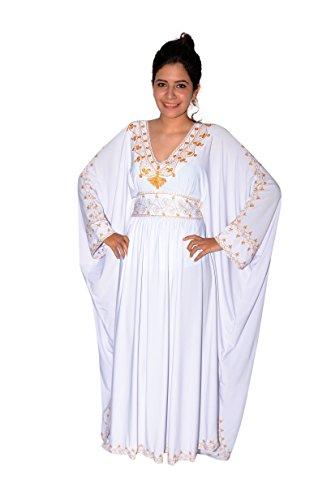 Damen Kaftan im Oriental Style, Einheitsgröße: M bis 3XL (40-58), - Oriental Kostüm