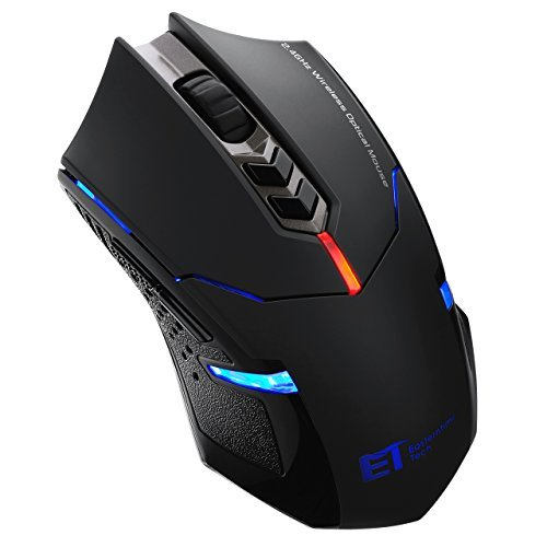 Pictek 2400DPI Adjustable Game Mice 2.4G Wireless Gaming Mouse with 7-Button 41BEpaW69hL