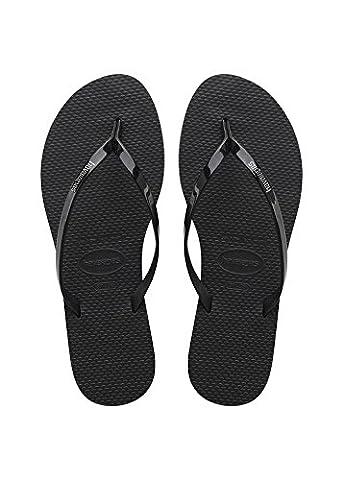 Havaianas Damen Flip Flops You Metallic Grösse 41/42 Schwarz Zehentrenner für Frauen