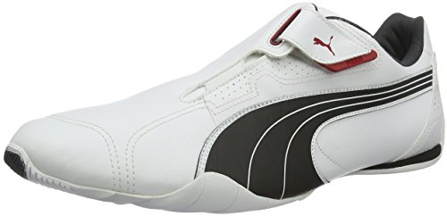 Puma Redon Move, Unisex-Erwachsene Sneakers, Weiß (white-black-ribbon red-puma silver-dark shadow 01), 44 EU (9.5 Erwachsene UK) - Sneaker Klett Damen