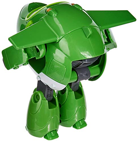 "Super Wings YW710280 MIRA Figurine Transformable Articulée ""Transforming"" avion - Vert - 12 cm"