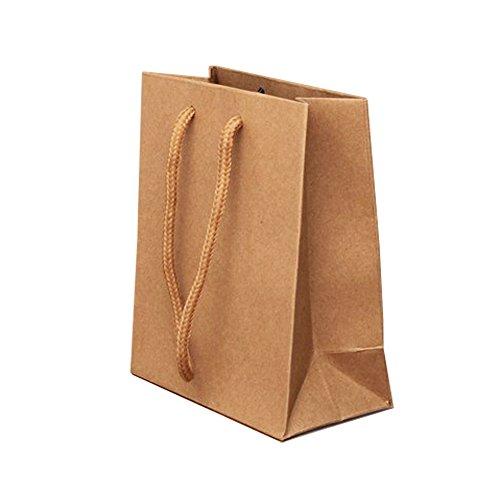 Bling Online, 5 unidades, pequeñas, papel Natural regalo de Navidad, beriliosis bolsas.