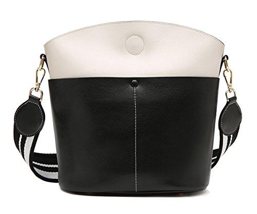 SAIERLONG Nuovo Donna Rosso/Blu Vera Pelle Borse spalla Crossbody Messenger Bags Nero/Bianca