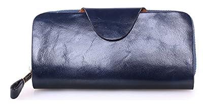 Greeniris femme portefeuille cuir veritable long portefeuille pour femme mode