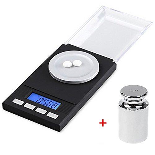 Xining 50g x 0,001g Mini Pocket Maßstab Digital Schmuck Balance Küche Gramm Gewicht mit 50g Kalibrierung