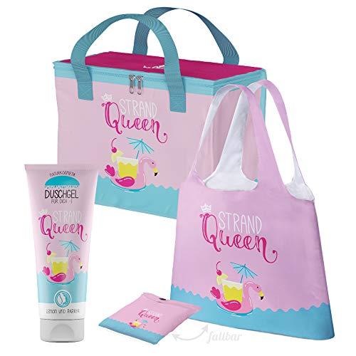 Preis am Stiel Geschenkset Strandqueen Kühltasche Duschgel Tasche   Isoliertasche   Körperpflege   Shopper   Picknick