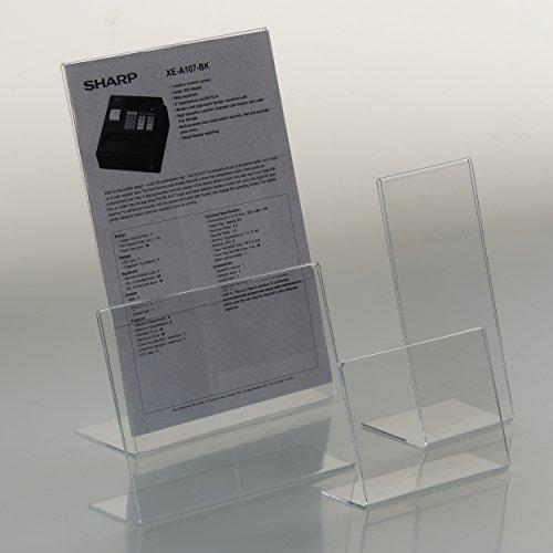 EPOSGEAR 1 x A4 Querformat Abgewinkelt Plexiglas Acryl Zurücklehnen Arbeitsplatte Menü Flyer...