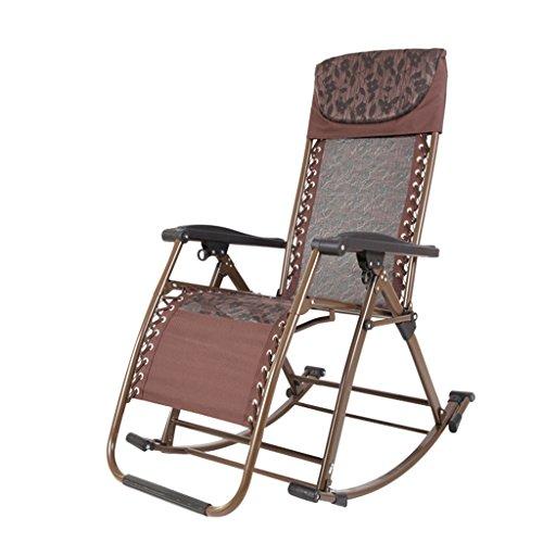 DLDL Multifunktionaler Klappstuhl Balkonstuhl Sessel Bambusstuhl Alter Freizeitstuhl (Farbe : Brown)
