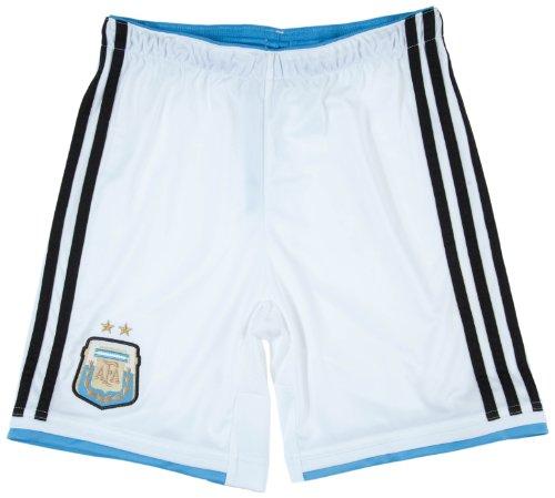 adidas, Pantaloni corti Bambino Argentina, partita in casa, Multicolore (White/Columbia Blue/Black), 164 cm