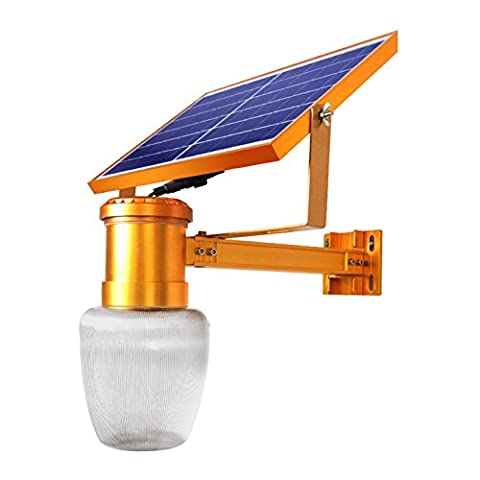 Maniny Solar-Straßenlaternenkopf im Freien LED-Straßenlaterne ländliche Straße super helle Fernsteuerungsgarten-Wandlampe, Hauptlandschaftsbeleuchtung, 10W warmes 12000MAH, kann Lampe drehen