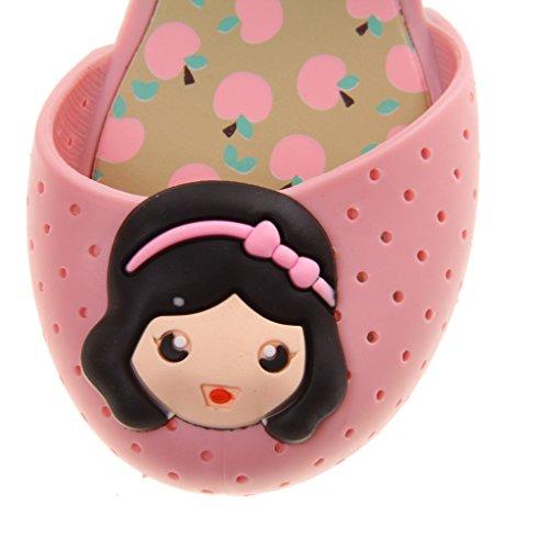 Sandales Gelée Méduse Plastique Bébé Filles Chaussures Princesse Plage Pluie Mode Léger Rose