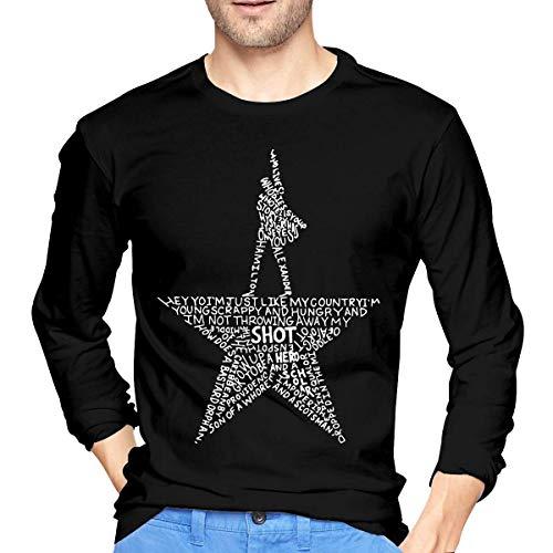 28358ce6d my fidget spinner style. YANNAN Mens Particular Hamilton I'm Just Like My  Country Long Sleeve T Shirt Black