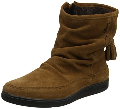 Hotter Women Pixie Moccasin Boots, Brown (Rust), 7.5 UK 41.5 EU