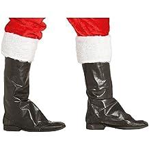 Cubre Botas Negras de Papá Noel