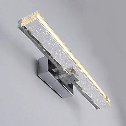 CHENGYI Creative Modern Lampes pour miroir en acier inoxydable Longue
