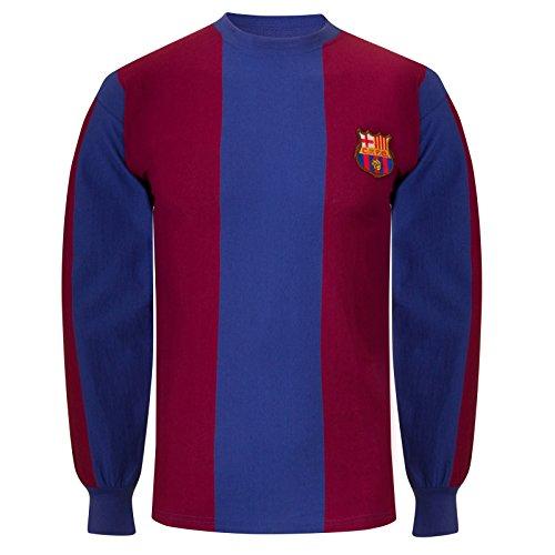 FCB FC Barcelona - Camiseta de la Primera equipación - para Hombre - Producto Oficial Estilo Retro - Temporada 1974/1979 - Azul 74 - XL