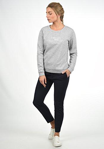 JACQUELINE de YONG by ONLY Taylor Damen Sweatshirt Pullover Sweater mit Rundhals-Ausschnitt und Stickerei aus hochwertiger Baumwollmischung, Größe:XL, Farbe:Light Grey Melange - 2