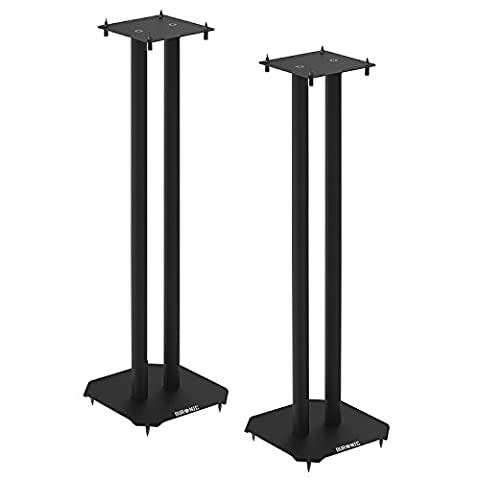Duronic SPS1022-80 Twin Loudspeaker Stand 80cm Metal Base | Home | Cinema | Loud Speaker Stands - Black - Set of 2