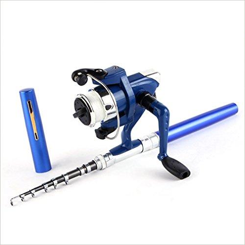 Super leichtes, tragbares Feder Rod Fishing Set Mini Teleskop Angelrute Pole + Reel Tasche Angelrolle Zubehör